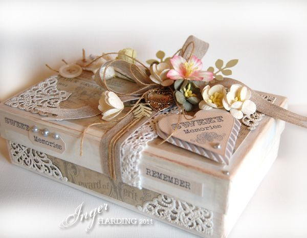 Cute and pretty shabby chic memory box: