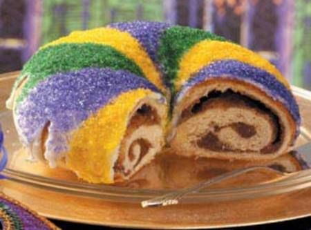 it's that time of year again. time for some king cake. recipe from justapinch.