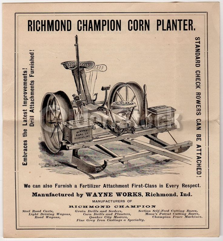 Wayne Works Agricultural Farm Machinery Antique Graphic Advertising Sales Flyer