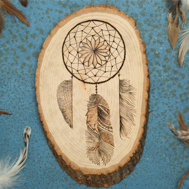 Wood Burned Dreamcatcher