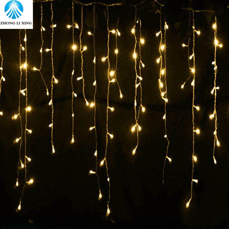 String lights Christmas outdoor decoration 5m Droop 0.4-0.6m curtain icicle string led lights EU 220V Garden Xmas Wedding Party  Price: 9.86 USD