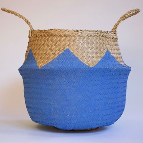 Image of ZIGZAG LIGHT BLUE BASKET