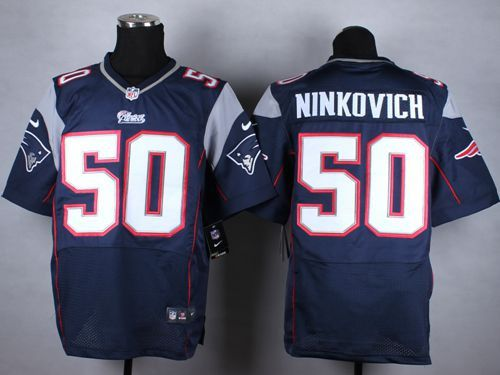 Rob Ninkovich New England Patriots # 50 Navy Blue Team Color Men's Stitched NFL Elite Jersey