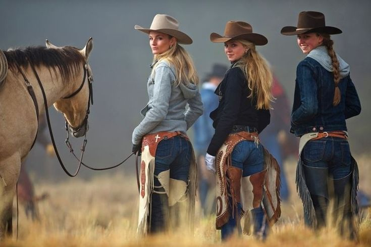 Sexy cowgirl butts