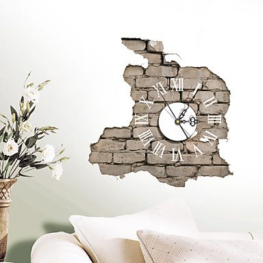 Modern/Contemporary Houses 3D Wall Clock Wall Indoor Clock 5369640 2017 – $9.99