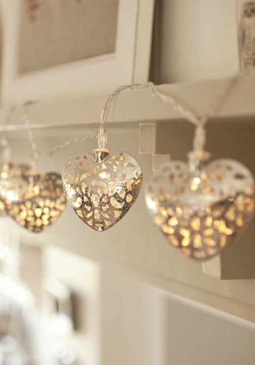 Bored with the usual string lights? Use these delightful metal heart lights to decorate and add ...