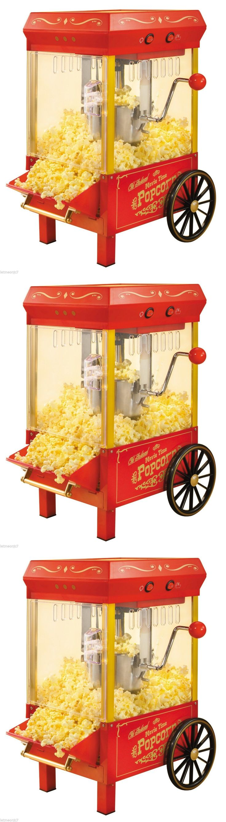 Popcorn Poppers 66752: Vintage Kettle Popcorn Maker Machine Cart Stand Commercial Or Home Movie Theater -> BUY IT NOW ONLY: $69.5 on eBay!