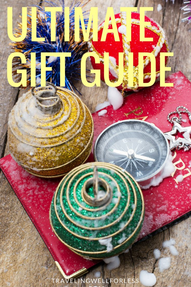 Take the stress out of shopping with the ultimate holiday gift guide for people who like to travel. http://www.travelingwellforless.com