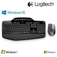 Logitech PC Tastatur + Maus Set Keyboard, MK710 , Funk, 2,4-GHz, mit LC Display kaufen bei Hood.de