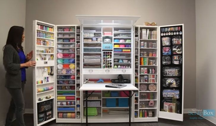 The Ultimate Craft Station Cabinet Awesome Stuff 365 Craft Storage Cabinets Craft Armoire Craft Storage
