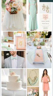 REVEL: Mint Peach Wedding Inspiration