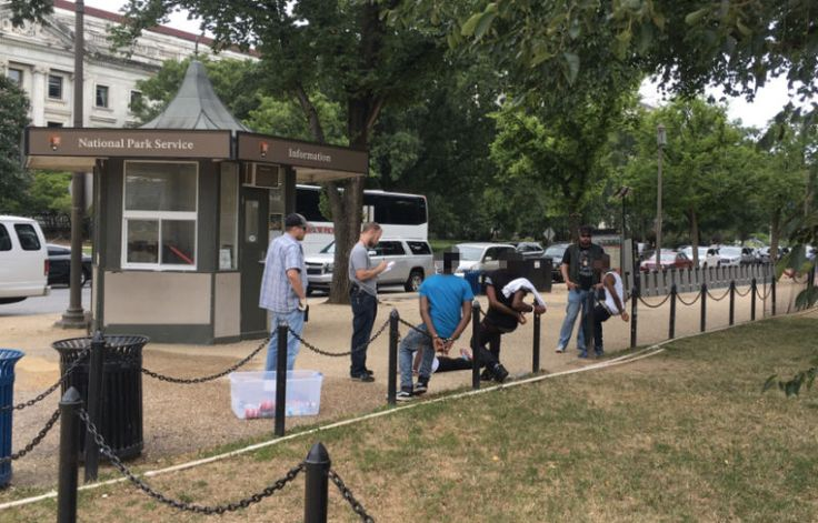 The U.S. Park Police has responded to questions about why three African American teenagers were handcuffed while selling water without a permit on the Mall in Washington, D.C. The answers are as hollow as one would expect.
