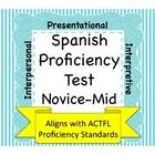 I developed this assessment as a tool for gathering data as to student's proficiency levels during their first and second years of language study i...