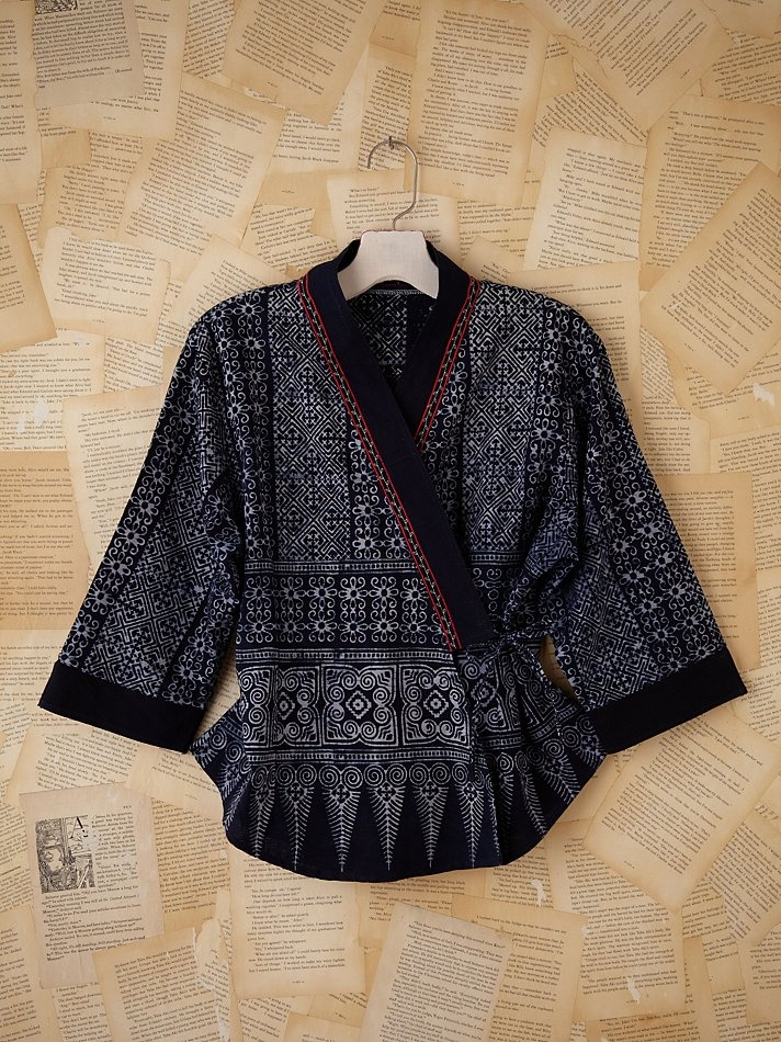 Gorgeous vintage Indonesian printed cross front jacket.