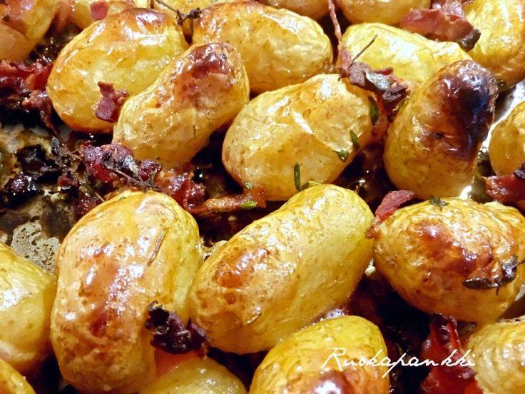 Ruokapankki: Savustetut perunat kastikkeen kera