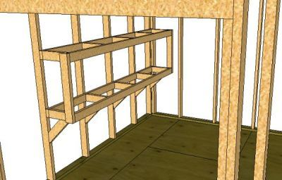 Storage shed shelves - here is the simple method I use whenever I want to build shelves in my storage sheds.