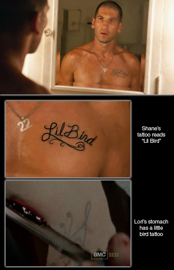 Shane's tattoo explained. The Walking Dead. Shane Walsh