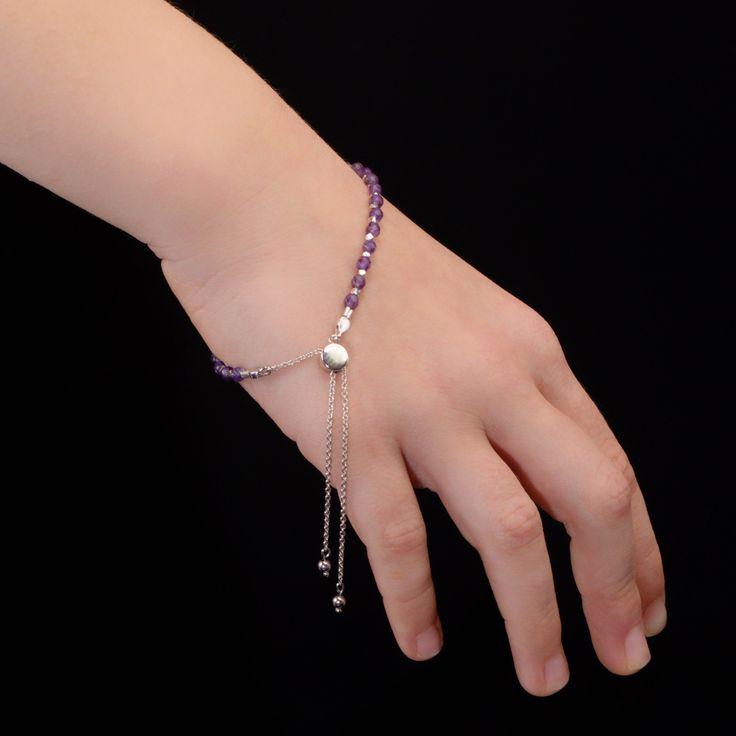 Amethyst Bead Bracelet #2