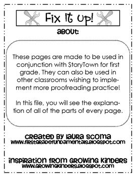 29 best storytown images on pinterest literacy centers school this is a set of files for every lesson in storytown the daily proofreading sentences fandeluxe Image collections