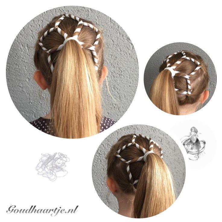 Frozen snowflake ponytail made by Goudhaartje.nl #snowflake #frozen #ponytail #braid #hairstyle #ribbonbraid #vlecht #sneeuwvlok #haarstijl #haaraccessoires #goudhaartje