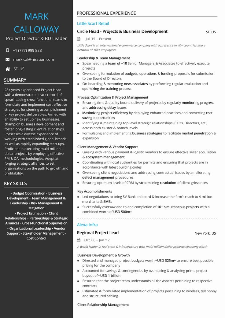 20 Best Ideas Skills In A Resume Project manager resume