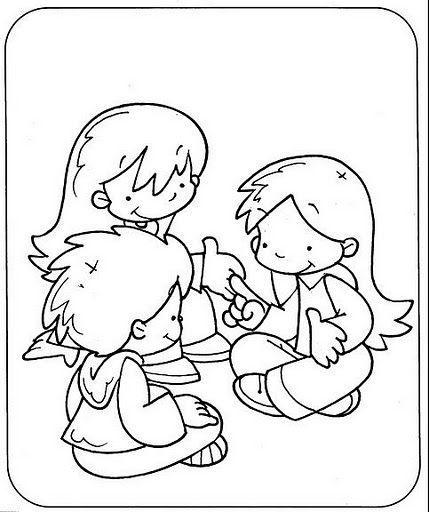 Dibujos de normas de convivencia para colorear - Imagui   Educación ...