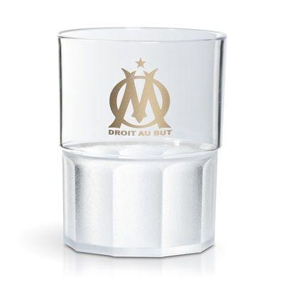 Olympique de Marseille Community Transparent 20cl Unbreakable Glass Pack of 6