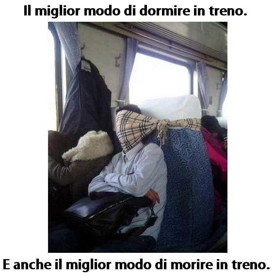 Il miglior modo di dormire in treno, ma...