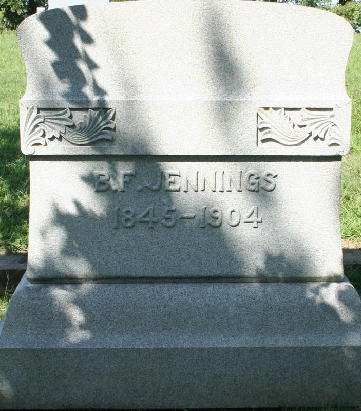 Benjamin Franklin Jennings 3X Great Grand Uncle
