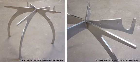 Stainless Table Base 2