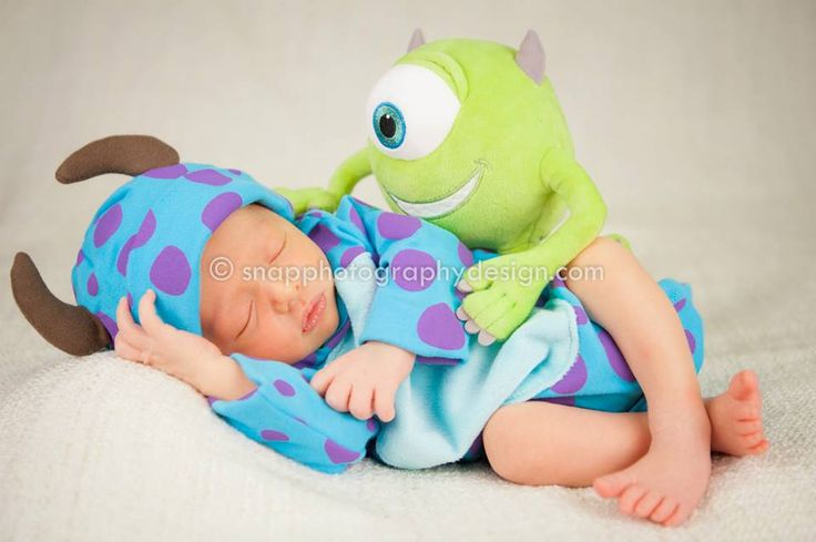 Disney S Monsters Inc Newborn Session Miami Photographer