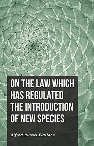 On the Law Which Has Regulated the Introduction of New…