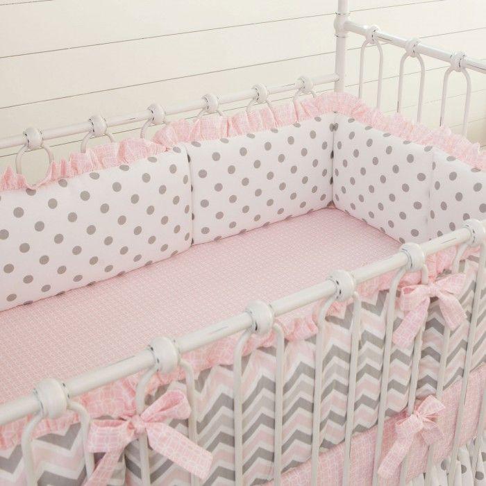 Бортики для кроватки с атласными бантиками