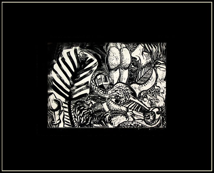 stenograma celui de-al treilea vis.linogravura.pp.negru