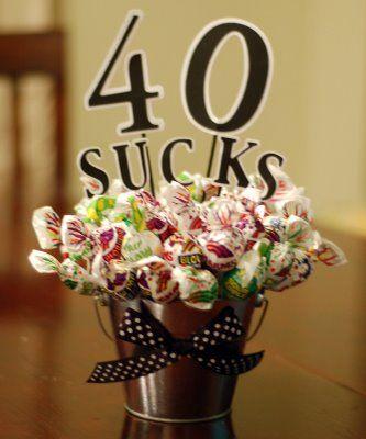 40 sucks birthday sucker bouquet