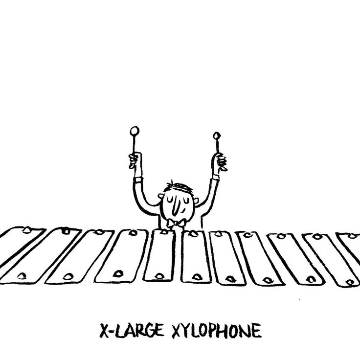 And now ladies and gentlemen, this is DAY 24 of my fun illustrated online calendar: the X-large Xylophone!!!