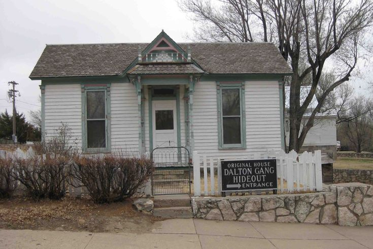 The Dalton Gang's original hideout, Meade, KS.