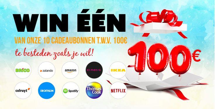 Win een cadeaubon t.w.v. € 100 om te shoppen !!!  Zou jij graag 100 euro willen winnen om te shoppen in de grootste winkelketens van ons land? Speel dan zeker mee met deze wedstrijd en maak kans op 1 van de 10 cadeaubonnen t.w.v. 100 euro! Meer info ==> http://gratisprijzenwinnen.be/win-100-euro-cadeaubon/  #win #gratis #bon