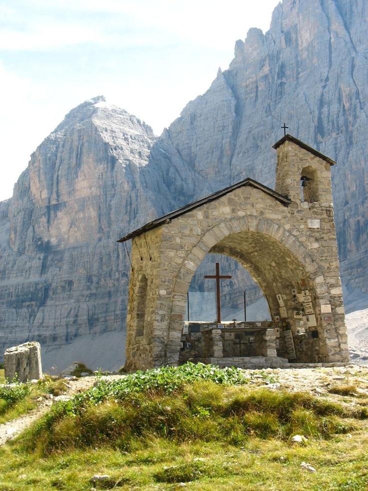 The chapel near Brentei hut (Madonna di Campiglio, )., province of Trentino, Trentino alto Adige region Italy