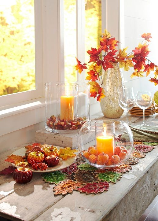 Pier 1 Harvest Decor Food Table DecorationsHarvest DecorationsCenterpiece