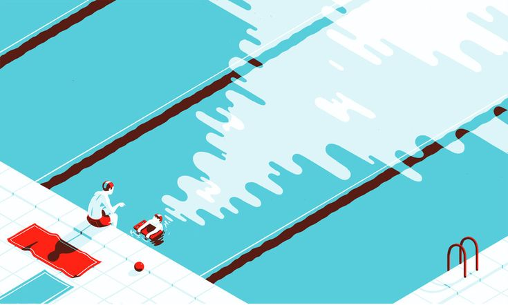 Tom Haugomat - Illustration for  Volkswagen Tiphaine-illustration  #kids #parents #swimmingpool