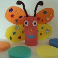 papillon réalisé avec rouleau papier wc