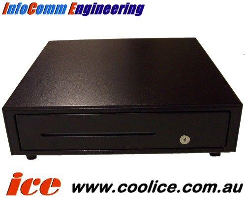 Wincor-Nixdorf Cash Drawer ZIN-26Z Black Printer Driven