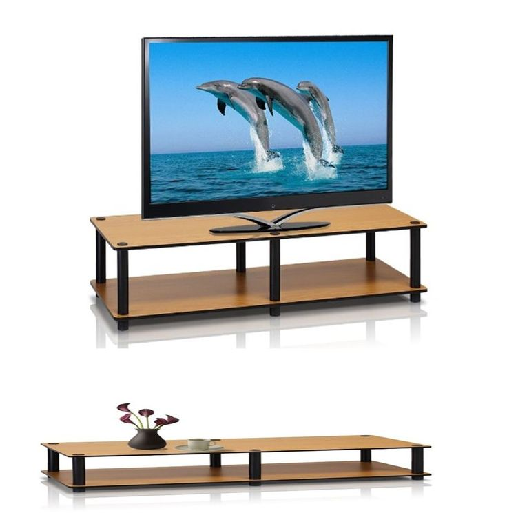 Light cherry simple TV stand media entertainment storage cabinet furniture Lsize #PerfectAllinaceLad #Contemporary