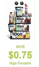 Coupon for IOGO Yogurt - $0.75 off