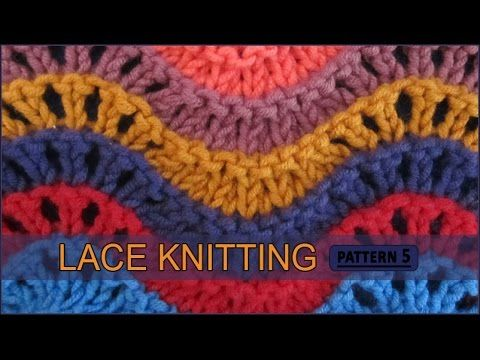 Old Shale | Lace Knitting Pattern #5 - YouTube