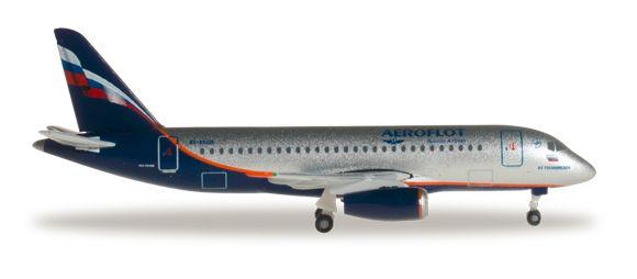 1/500 Herpa Aeroflot Sukhoi SuperJet 100-95 Diecast Model