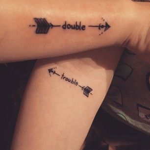 Double Trouble tattoo - Top 20 Best Friend Tattoos and Designs
