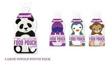 Aussie Bubs - Squooshi Reusable Food Pouches - Single Large Pouch Single Pouches available in the Monkey, Panda, Penguin and Walrus Designs