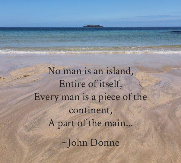 No man is an island essay